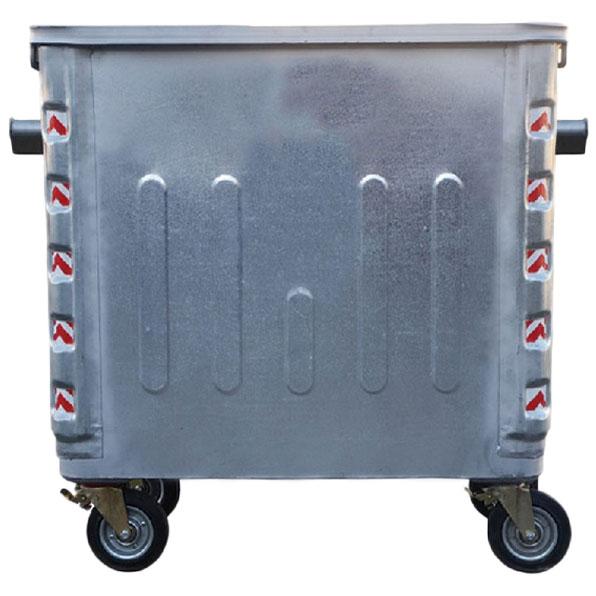 سطل زباله 1100 لیتری گالوانیزه