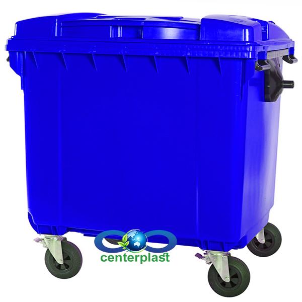 سطل زباله 660 لیتری چهارچرخ