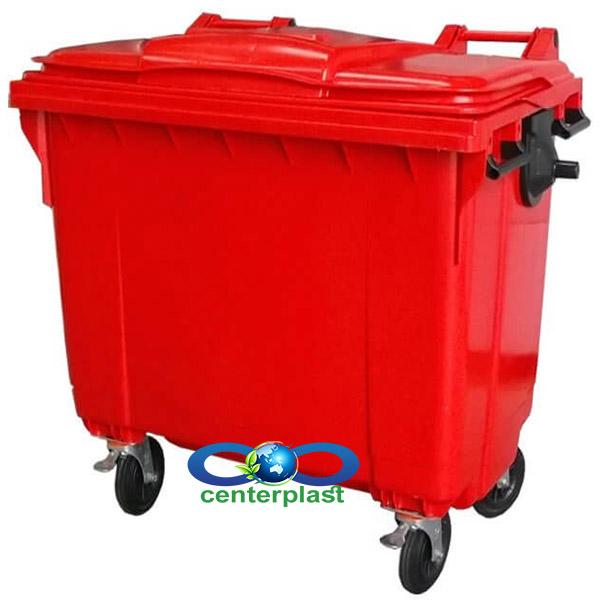 سطل زباله 1100 لیتری پلی اتیلن