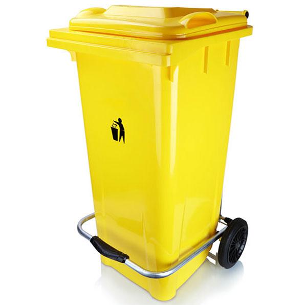 سطل زباله 240 لیتری پدالدار