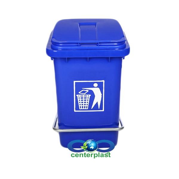 سطل زباله اداری پدال دار پلاستیکی پلی اتیلن