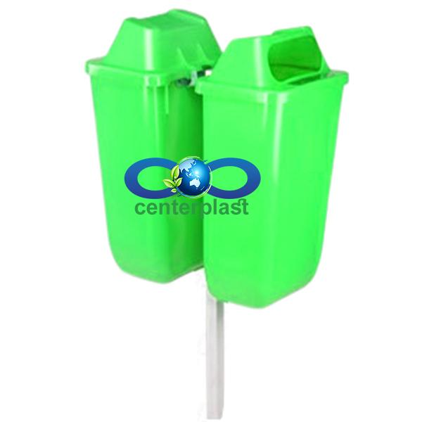 سطل زباله دوقلو 50 لیتری