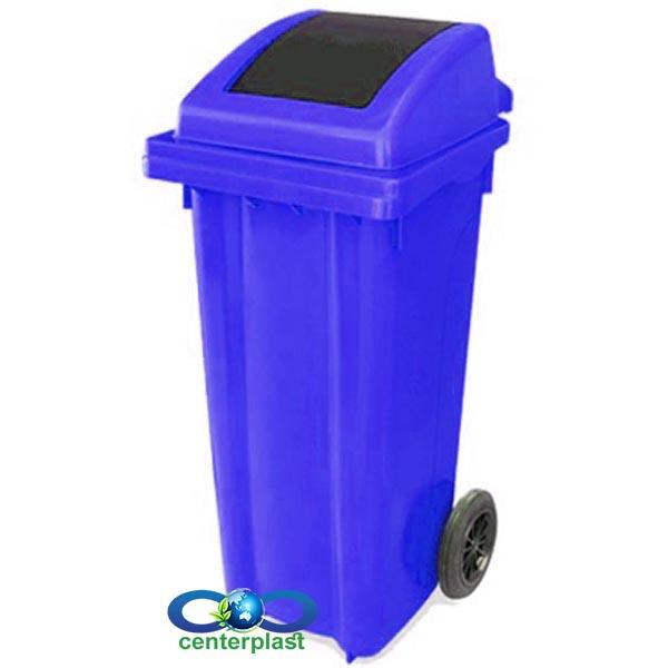 سطل زباله 120 لیتری دمپردار