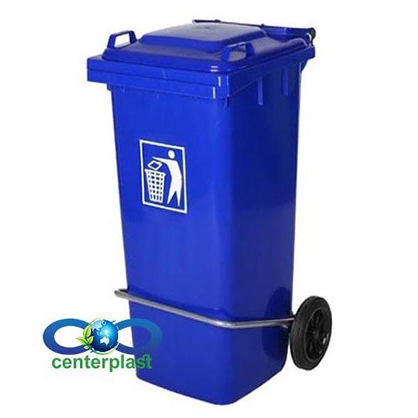 مخزن زباله 100 لیتری پدال دار