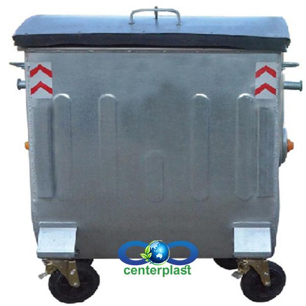 مخزن زباله 1100 لیتری درب بارانی