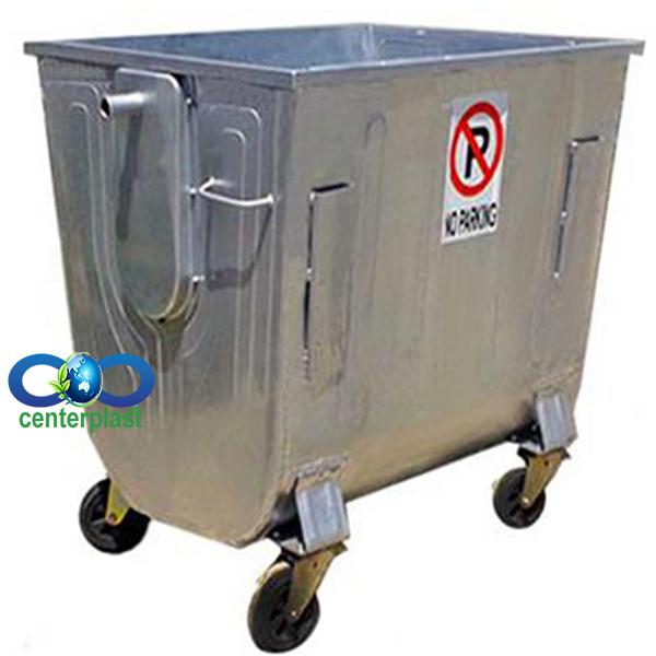 مخزن زباله 1100 لیتری محدب