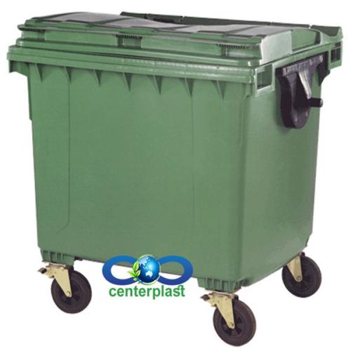 مخزن زباله 1100 لیتری مکانیزه