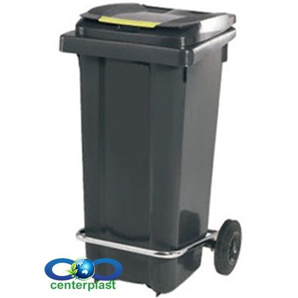 مخزن زباله 120 لیتری پدال دار