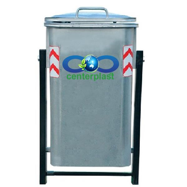 مخزن زباله 220 لیتری گالوانیزه