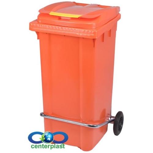 مخزن زباله 240 لیتری پدال دار