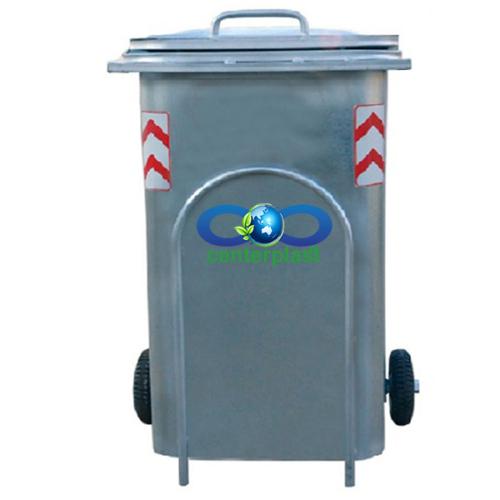 مخزن زباله 240 لیتری گالوانیزه