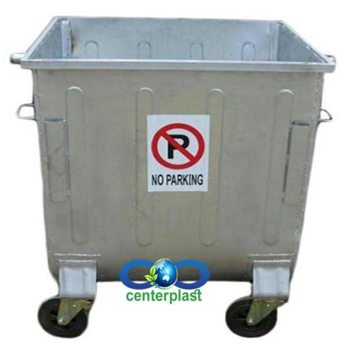 مخزن زباله 660 لیتری محدب